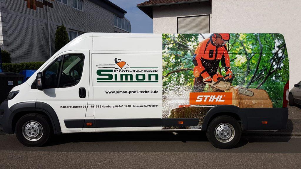 Simon Profitechnik Designerstellung zur Fahrzeugbeschriftung inkl. Montage